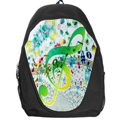 Points Circle Music Pattern Backpack Bag
