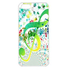 Points Circle Music Pattern Apple Iphone 5 Seamless Case (white)