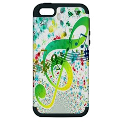 Points Circle Music Pattern Apple Iphone 5 Hardshell Case (pc+silicone)