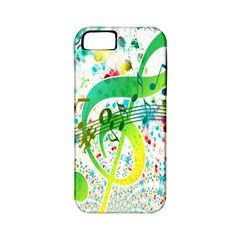 Points Circle Music Pattern Apple Iphone 5 Classic Hardshell Case (pc+silicone)