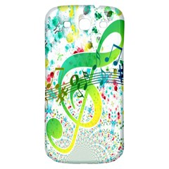 Points Circle Music Pattern Samsung Galaxy S3 S III Classic Hardshell Back Case