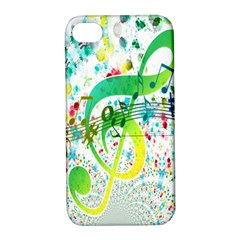 Points Circle Music Pattern Apple iPhone 4/4S Hardshell Case with Stand