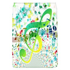 Points Circle Music Pattern Flap Covers (L)
