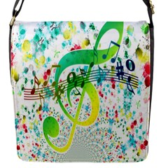Points Circle Music Pattern Flap Messenger Bag (s)