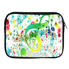 Points Circle Music Pattern Apple iPad 2/3/4 Zipper Cases