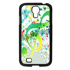 Points Circle Music Pattern Samsung Galaxy S4 I9500/ I9505 Case (Black)