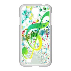 Points Circle Music Pattern Samsung Galaxy S4 I9500/ I9505 Case (white)