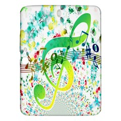 Points Circle Music Pattern Samsung Galaxy Tab 3 (10 1 ) P5200 Hardshell Case