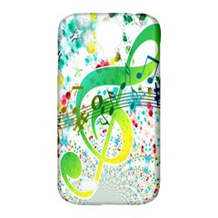 Points Circle Music Pattern Samsung Galaxy S4 Classic Hardshell Case (pc+silicone)