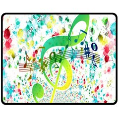 Points Circle Music Pattern Double Sided Fleece Blanket (medium)