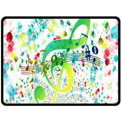 Points Circle Music Pattern Double Sided Fleece Blanket (large)
