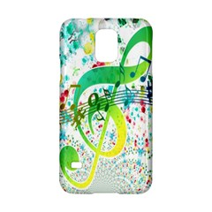 Points Circle Music Pattern Samsung Galaxy S5 Hardshell Case
