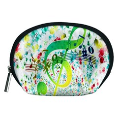 Points Circle Music Pattern Accessory Pouches (medium)