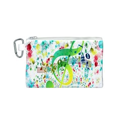 Points Circle Music Pattern Canvas Cosmetic Bag (s)