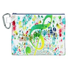 Points Circle Music Pattern Canvas Cosmetic Bag (xxl)