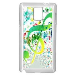 Points Circle Music Pattern Samsung Galaxy Note 4 Case (White)