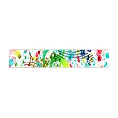 Points Circle Music Pattern Flano Scarf (mini)