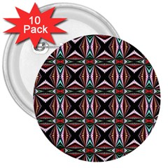 Plot Texture Background Stamping 3  Buttons (10 pack)
