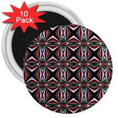 Plot Texture Background Stamping 3  Magnets (10 pack)