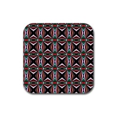 Plot Texture Background Stamping Rubber Square Coaster (4 pack)