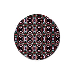Plot Texture Background Stamping Rubber Round Coaster (4 pack)