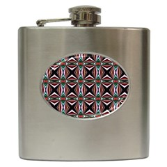 Plot Texture Background Stamping Hip Flask (6 Oz)
