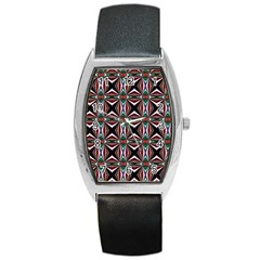 Plot Texture Background Stamping Barrel Style Metal Watch