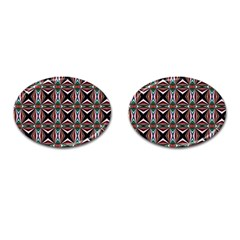 Plot Texture Background Stamping Cufflinks (oval)