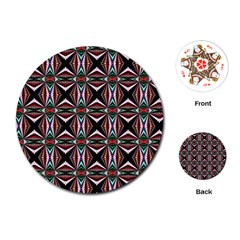 Plot Texture Background Stamping Playing Cards (round)