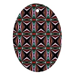 Plot Texture Background Stamping Oval Ornament (Two Sides)