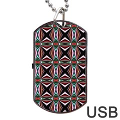 Plot Texture Background Stamping Dog Tag Usb Flash (two Sides)