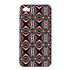 Plot Texture Background Stamping Apple Iphone 4/4s Seamless Case (black)
