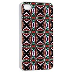 Plot Texture Background Stamping Apple Iphone 4/4s Seamless Case (white)