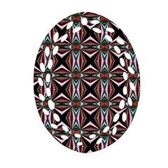 Plot Texture Background Stamping Oval Filigree Ornament (Two Sides)