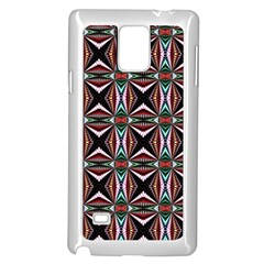 Plot Texture Background Stamping Samsung Galaxy Note 4 Case (White)