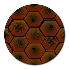 Psychedelic Pattern Round Mousepads