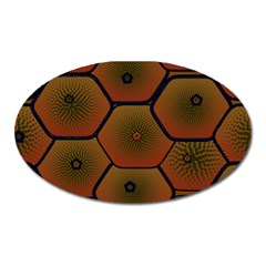 Psychedelic Pattern Oval Magnet