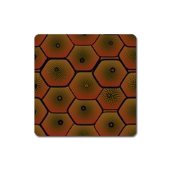 Psychedelic Pattern Square Magnet