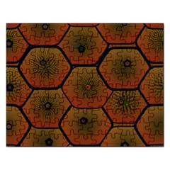 Psychedelic Pattern Rectangular Jigsaw Puzzl