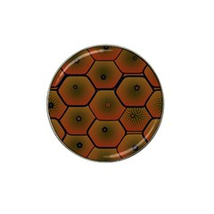 Psychedelic Pattern Hat Clip Ball Marker