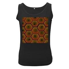 Psychedelic Pattern Women s Black Tank Top