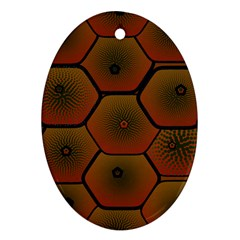 Psychedelic Pattern Oval Ornament (Two Sides)