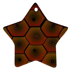Psychedelic Pattern Star Ornament (Two Sides)