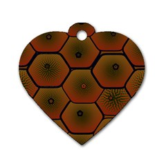 Psychedelic Pattern Dog Tag Heart (Two Sides)