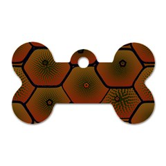 Psychedelic Pattern Dog Tag Bone (two Sides)