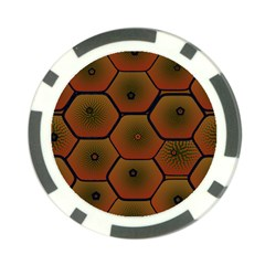 Psychedelic Pattern Poker Chip Card Guard