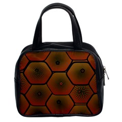 Psychedelic Pattern Classic Handbags (2 Sides)