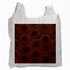 Psychedelic Pattern Recycle Bag (one Side)
