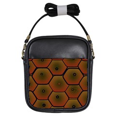 Psychedelic Pattern Girls Sling Bags