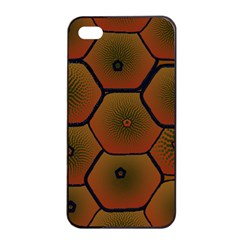 Psychedelic Pattern Apple iPhone 4/4s Seamless Case (Black)